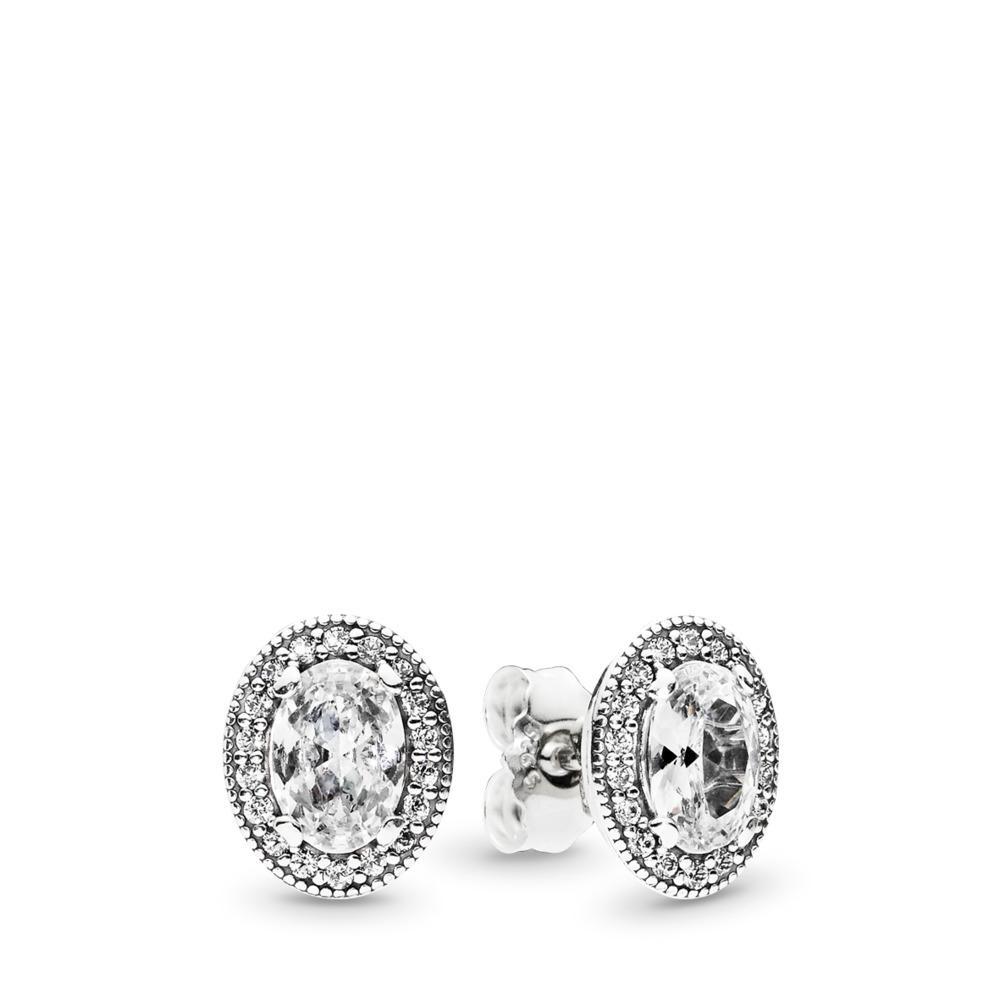 Vintage Elegance, Clear CZ, Sterling silver, Cubic Zirconia - PANDORA - #296247CZ