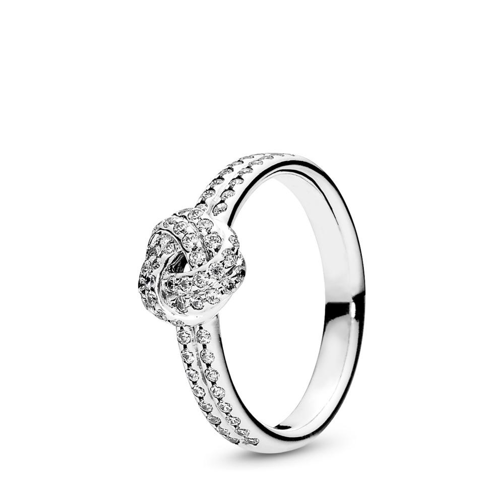 Sparkling Love Knot, Clear CZ, Sterling silver, Cubic Zirconia - PANDORA - #190997CZ