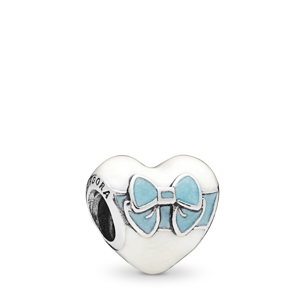 White Day Love Charm, Sterling silver, Enamel - PANDORA - #797784ENMX