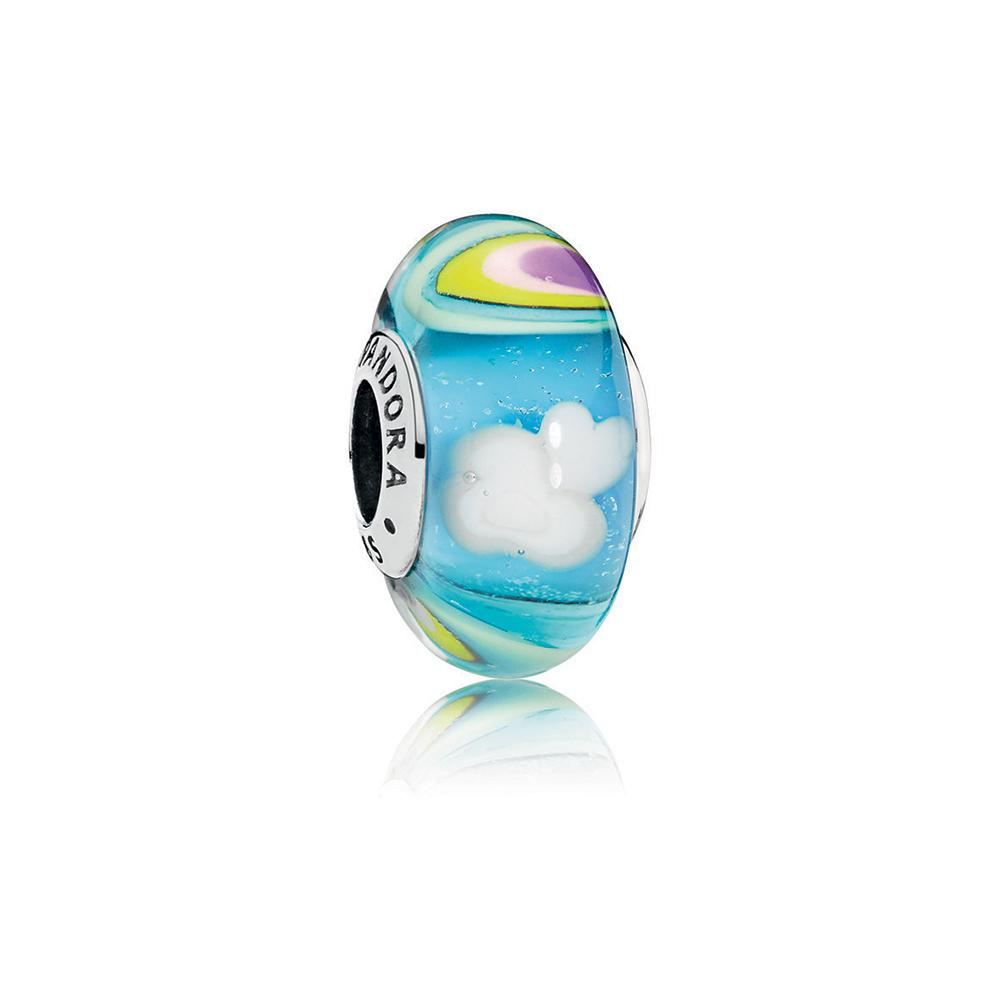 Iridescent Rainbow Murano Glass Charm