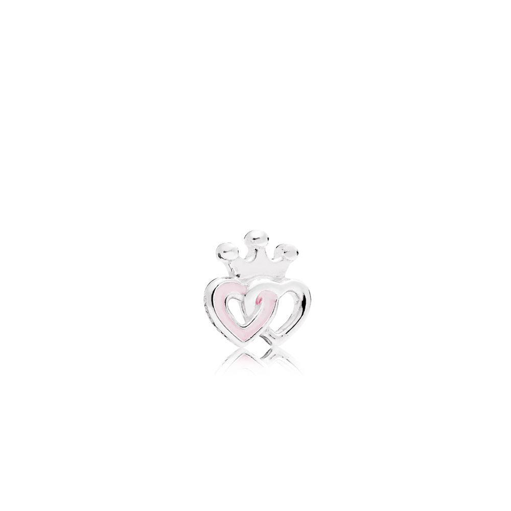 Crowned Hearts Petite, Soft Pink Enamel