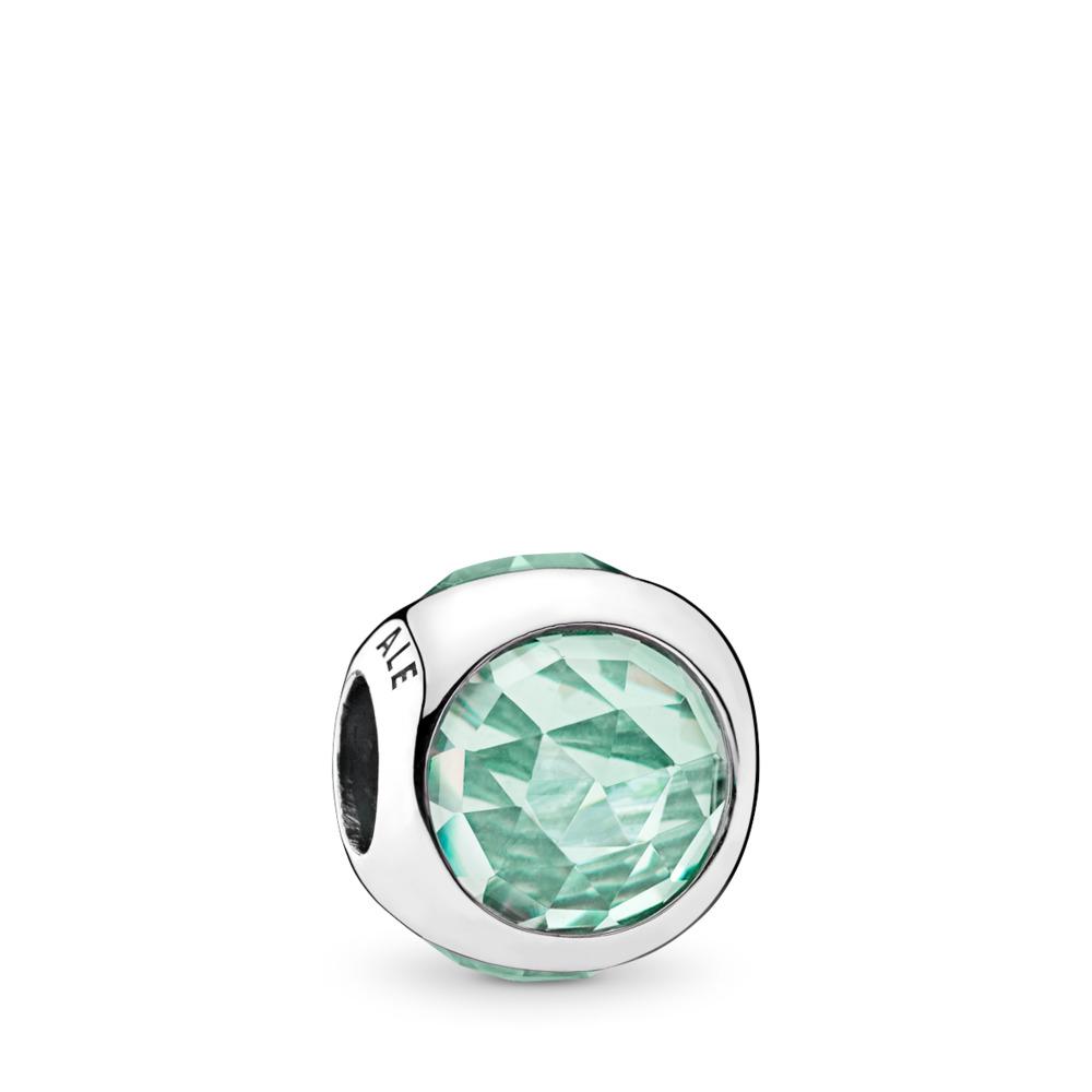 Gouttelette radieuse, cristaux vert glacé, Argent sterling, Aucun autre matériel, Vert, Cristal - PANDORA - #792095NIC