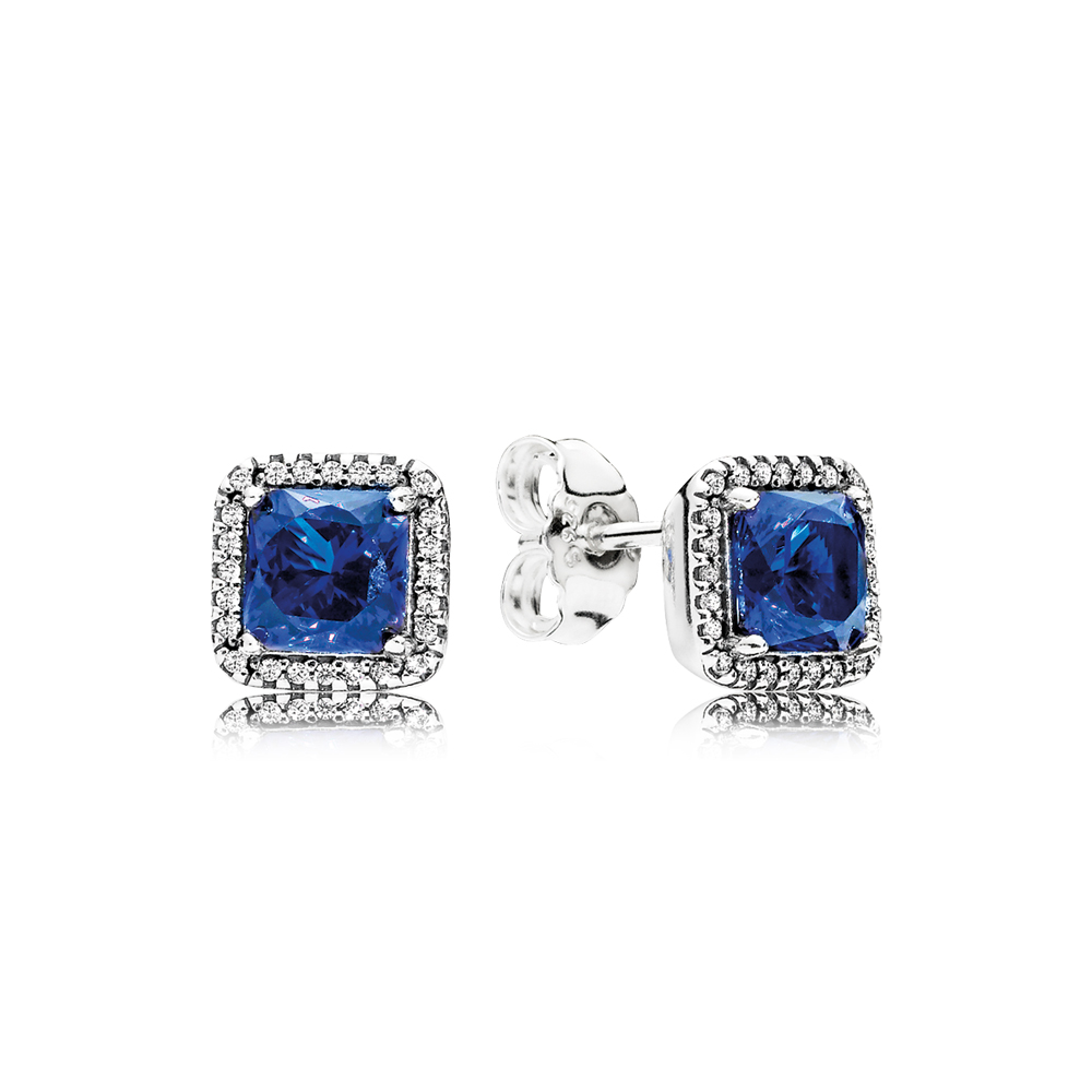 Éternelle élégance, cristaux bleu pur et cz incolore