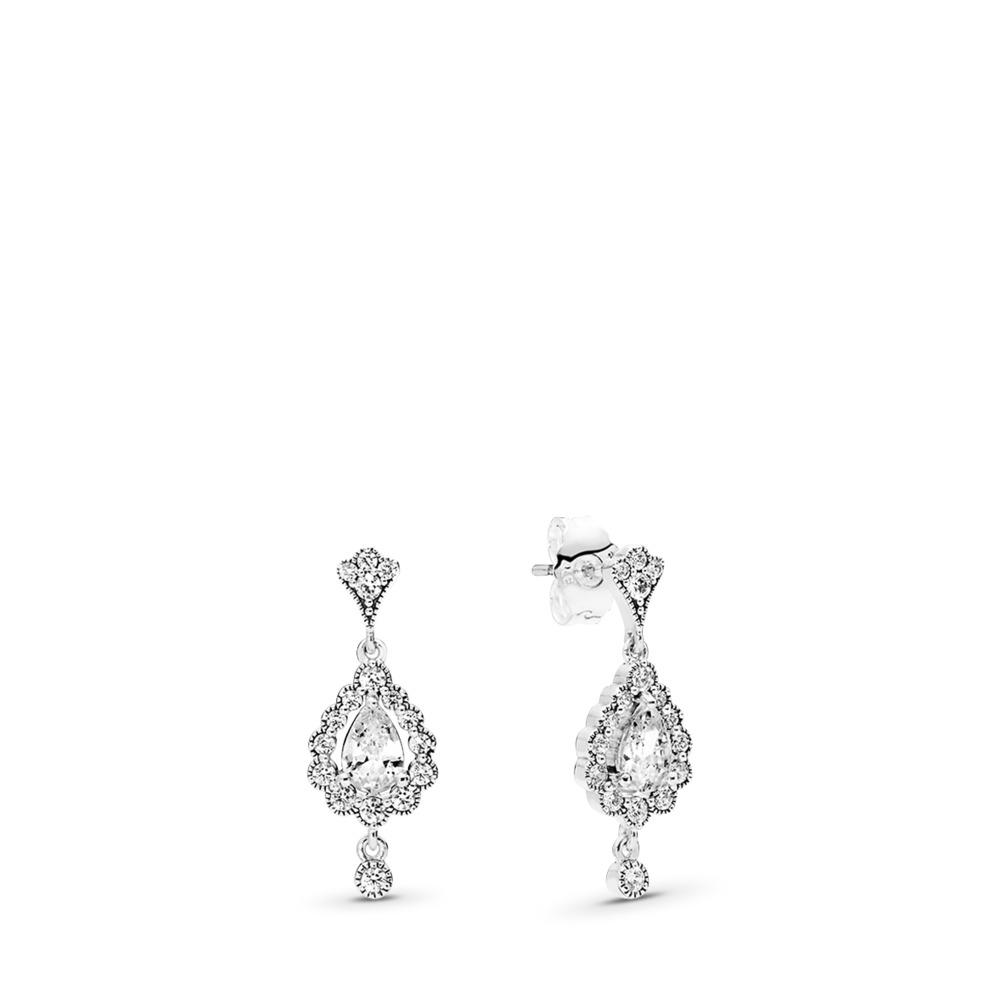 Heraldic Radiance Earrings, Clear CZ, Sterling silver, Cubic Zirconia - PANDORA - #297714CZ
