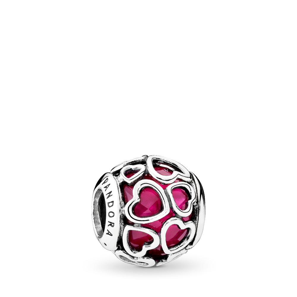 Cerise Encased in Love, Cerise Crystal, Sterling silver, Pink, Crystal - PANDORA - #792036NCC