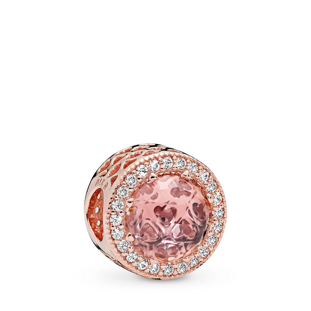 Cœurs radieux, PANDORA RoseMC et cristal rose blush, PANDORA ROSE, Aucun autre matériel, Rose, Pierres mélangées - PANDORA - #781725NBP