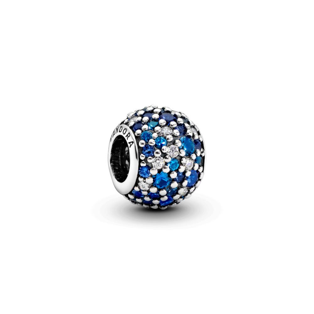Mosaïque céleste, cristal bleu de Suisse et cz incolore, Argent sterling, Aucun autre matériel, Bleu, Pierres mélangées - PANDORA - #791261NSBMX
