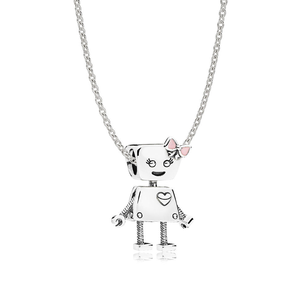 Bella Bot Necklace Set, Pink - PANDORA - #CS1801