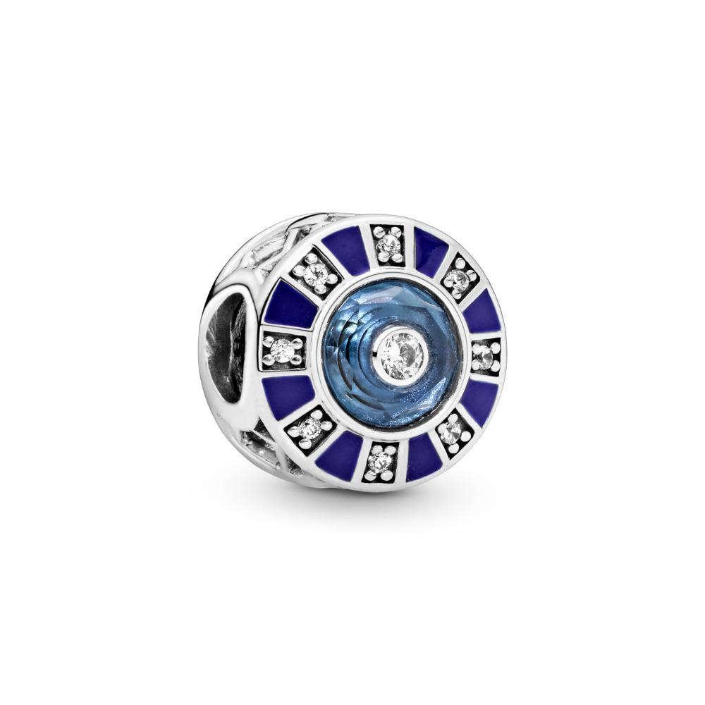 Charm Mosaïque bleue, Argent sterling, émail, Bleu, Pierres mélangées - PANDORA - #798031EN195