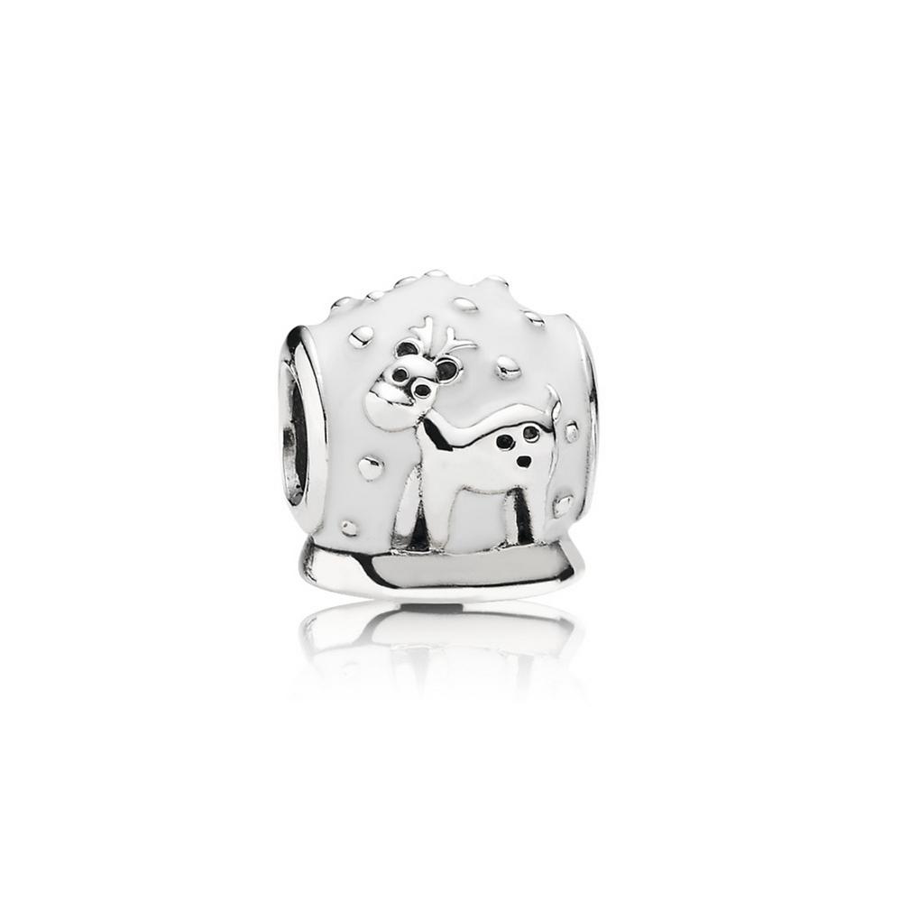 Snow Globe, White Enamel