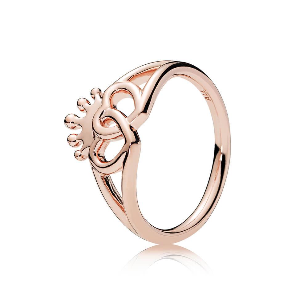 United Regal Hearts Ring, PANDORA Rose™