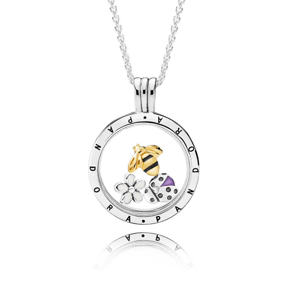 Magical Meadow PANDORA Locket Necklace Set, PANDORA Shine™ and Mixed Enamel