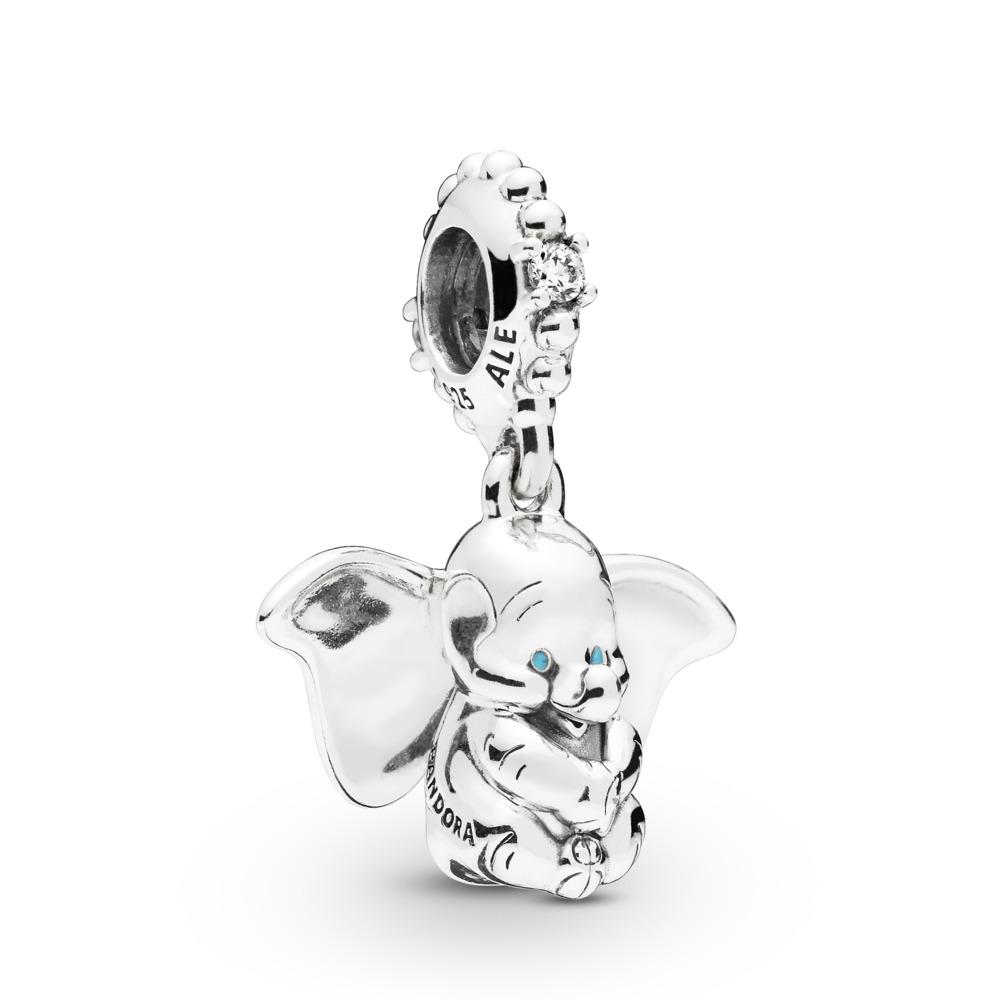Disney, Dumbo Dangle Charm, Sterling silver, Enamel, Cubic Zirconia - PANDORA - #797849CZ