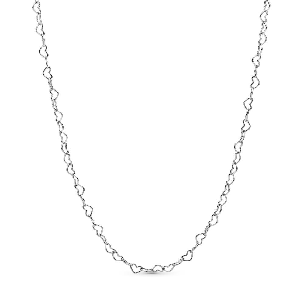 Collier Cœurs unis, Argent sterling, Aucun autre matériel, Aucune couleur, Aucune pierre - PANDORA - #397961
