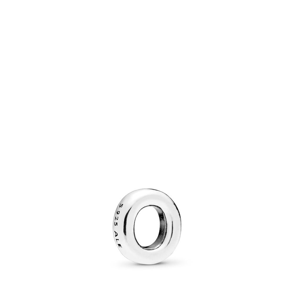 Mini Lettre O, Argent sterling, Aucun autre matériel, Aucune couleur, Aucune pierre - PANDORA - #797333