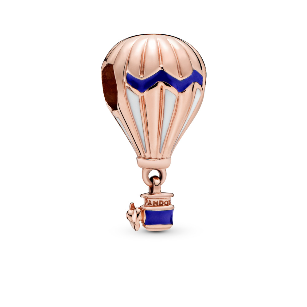Blue Hot Air Balloon Charm, PANDORA Rose, Enamel, Blue - PANDORA - #788055ENMX