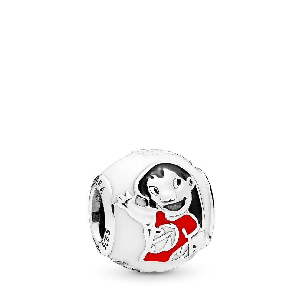 Charm Disney, Lilo et Stitch, émaux mixtes, Argent sterling, émail, Aucune pierre - PANDORA - #796338ENMX