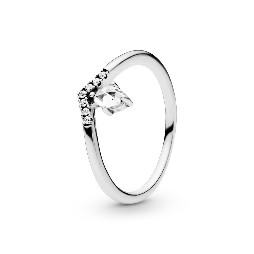 Classic Wish Ring, Sterling silver, Cubic Zirconia - PANDORA - #197790CZ
