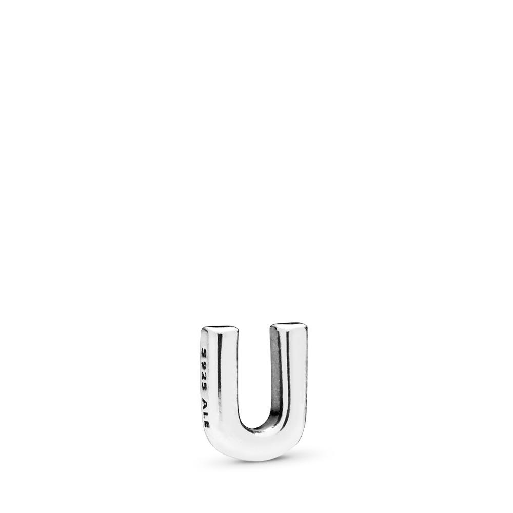 Letter U Petite Charm, Sterling silver - PANDORA - #797339