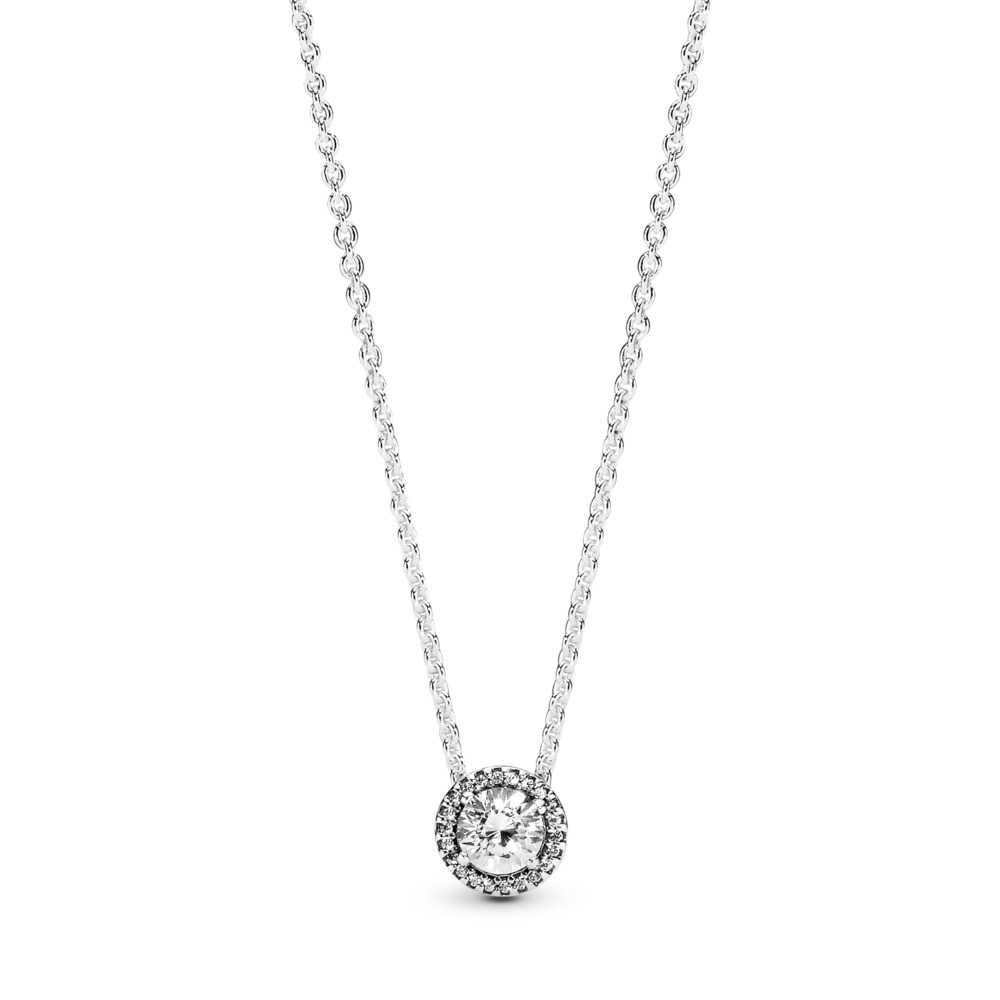 Classic Elegance Necklace, Clear CZ, Sterling silver, Cubic Zirconia - PANDORA - #396240CZ