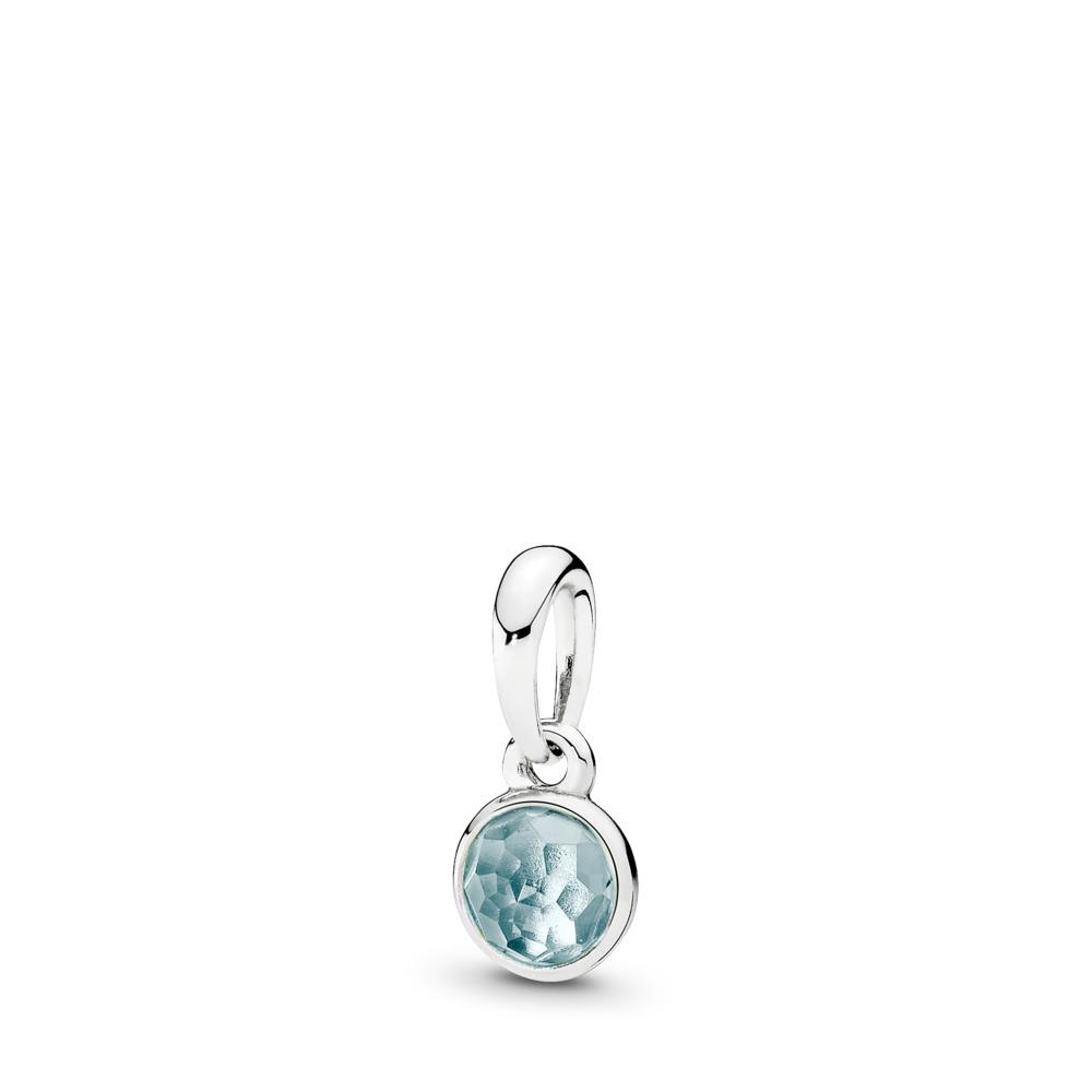 Gouttelette de mars, cristal bleu marine, Argent sterling, Aucun autre matériel, Bleu, Cristal - PANDORA - #390396NAB