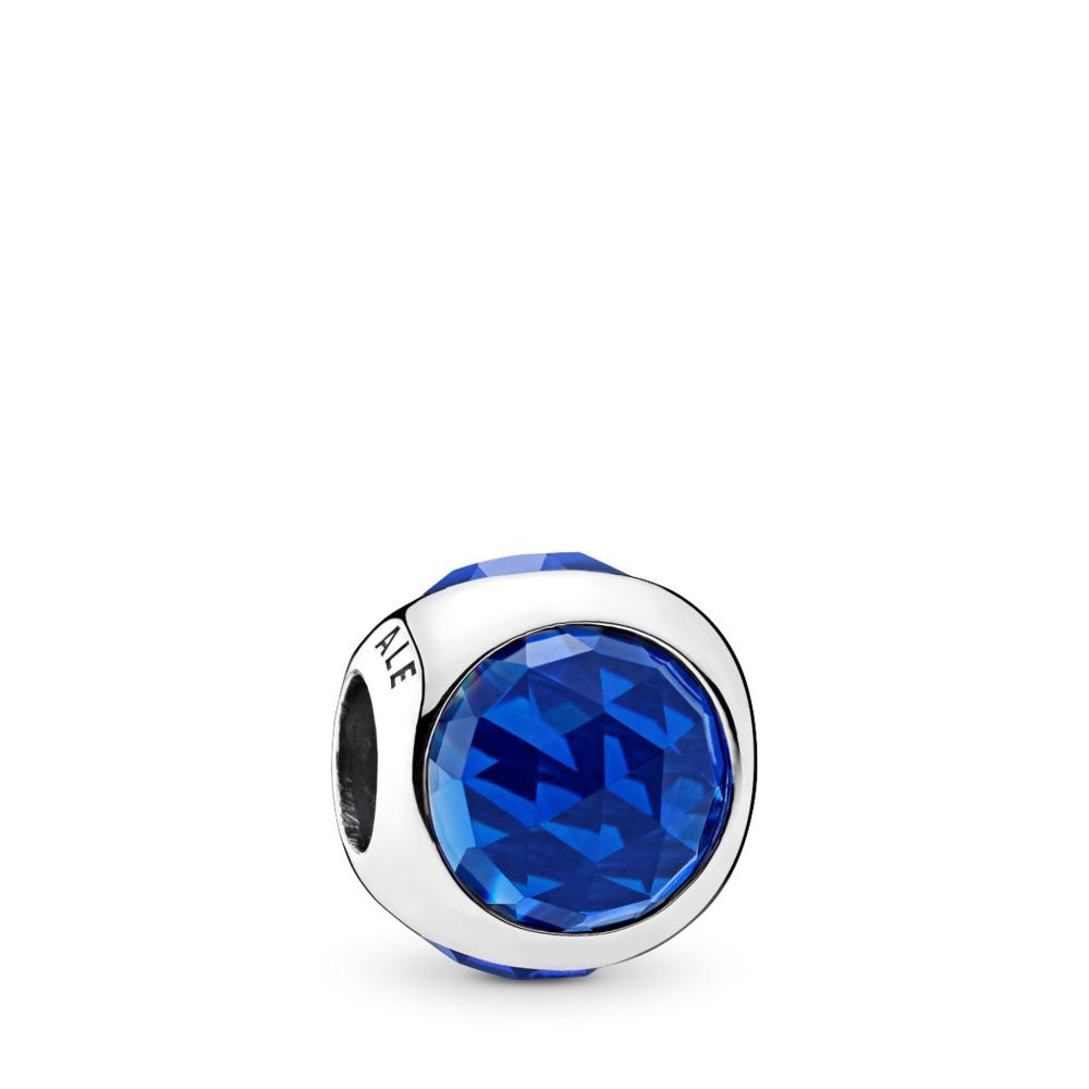 Gouttelette radieuse, cristaux bleu royal, Argent sterling, Aucun autre matériel, Bleu, Cristal - PANDORA - #792095NCB