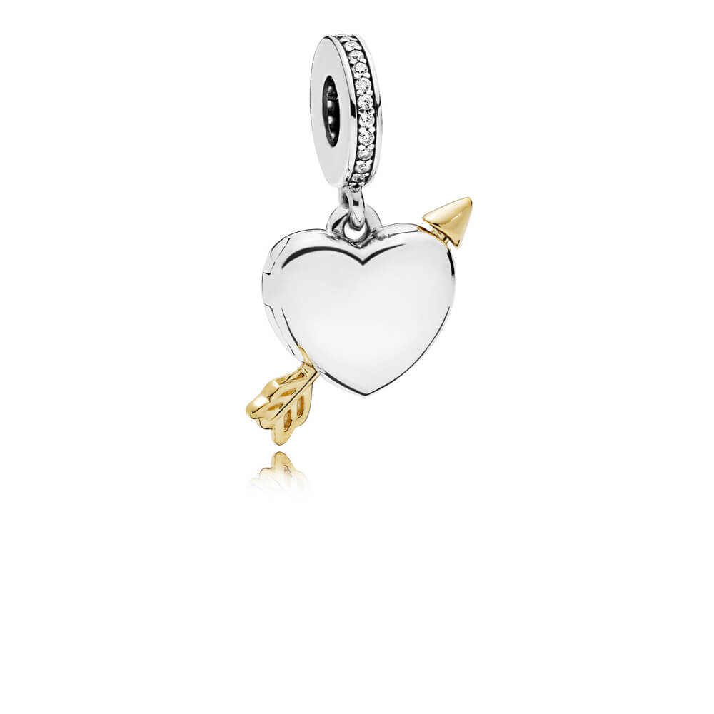 Limited Edition Arrow of Love Dangle Charm, Sterling Silver, Cubic Zirconia - PANDORA - #B801113