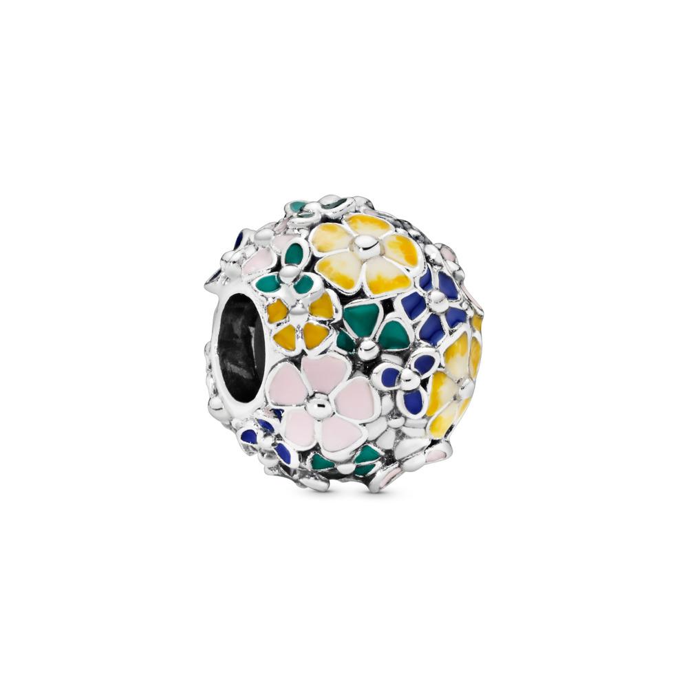 Charm Arrangement classique de fleurs, Argent sterling, émail, Aucune couleur, Aucune pierre - PANDORA - #797907ENMX