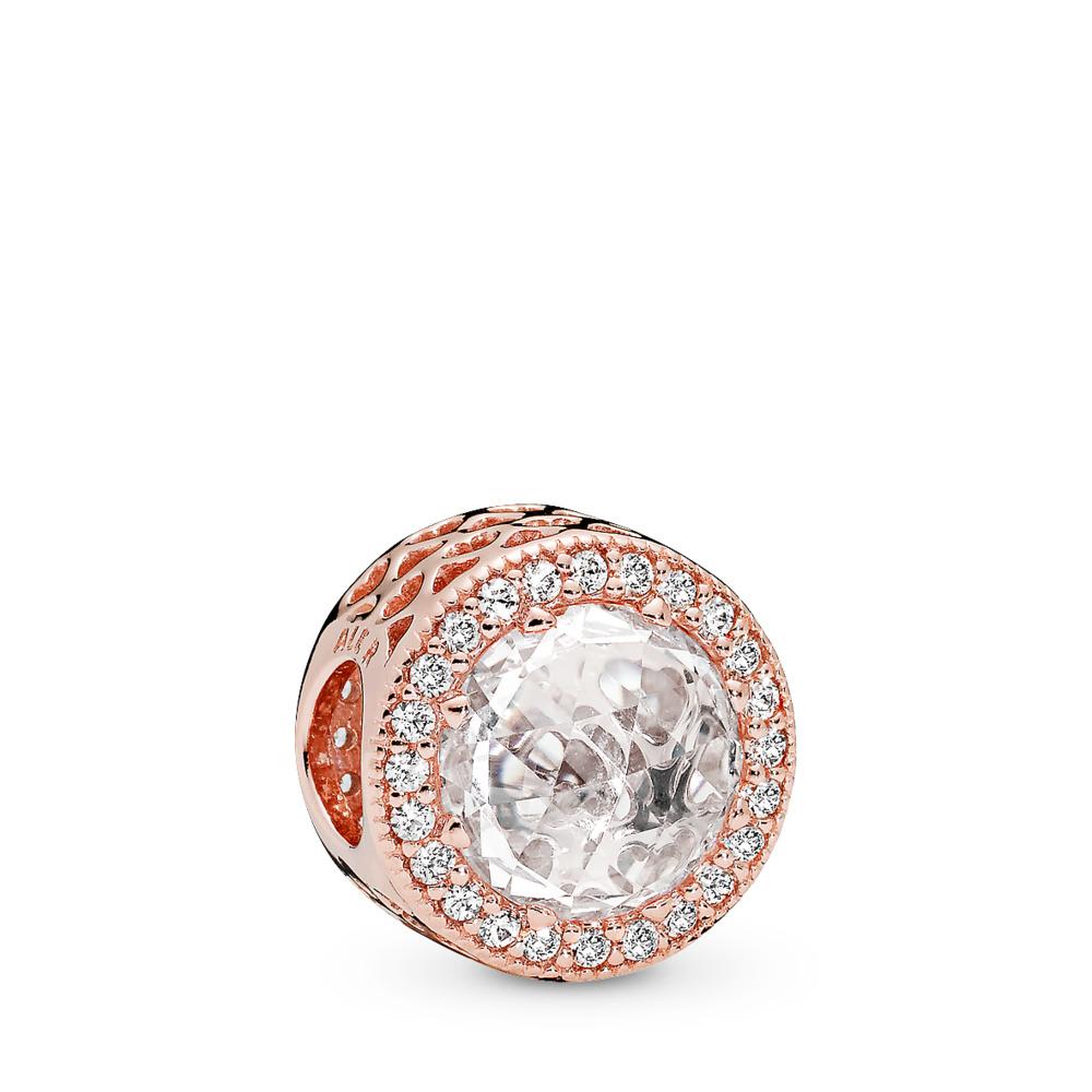 Radiant Hearts, PANDORA Rose™ & Clear CZ, PANDORA Rose, Cubic Zirconia - PANDORA - #781725CZ