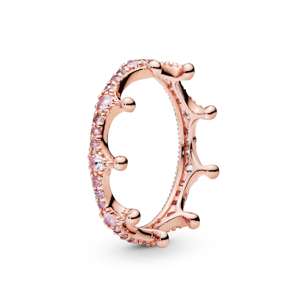 Pink Enchanted Crown, PANDORA Rose™, PANDORA Rose, Pink, Crystal - PANDORA - #187087NPO