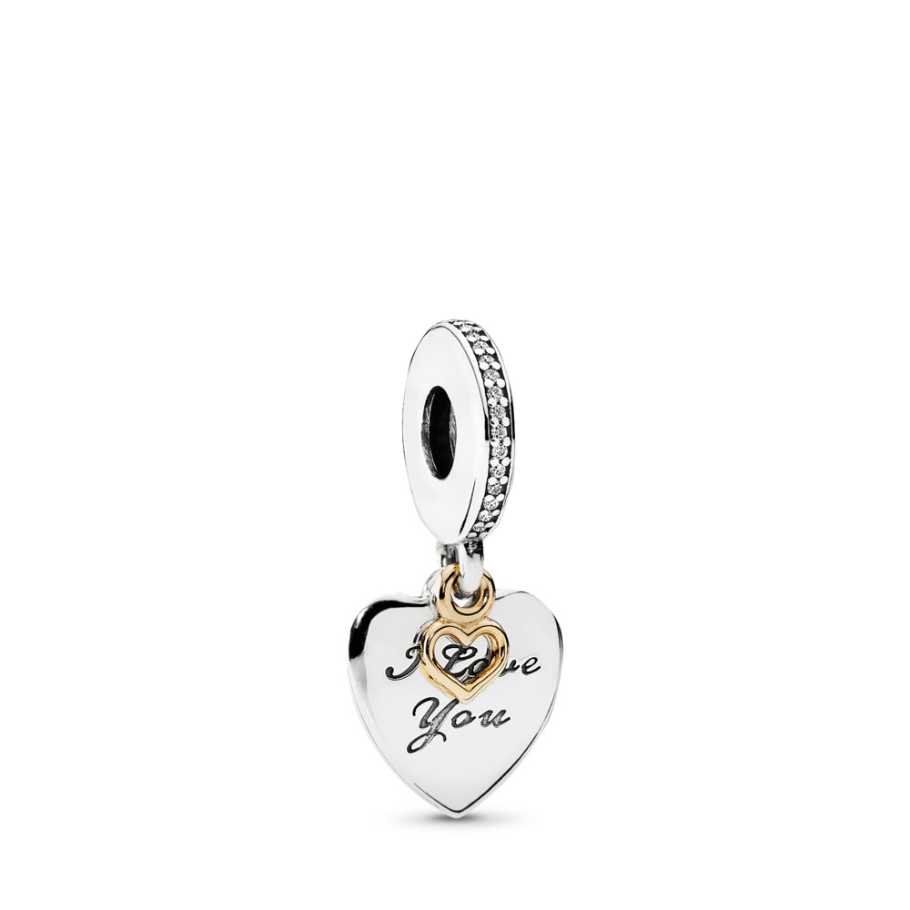 Love You Forever, Clear CZ, Two Tone, Cubic Zirconia - PANDORA - #792042CZ