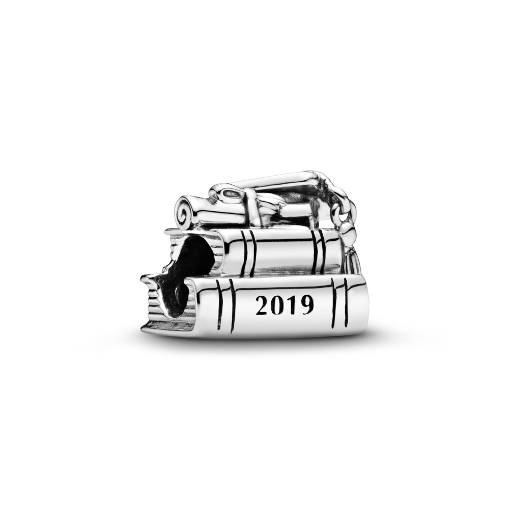 2019 Graduation Charm, Sterling silver - PANDORA - #798034