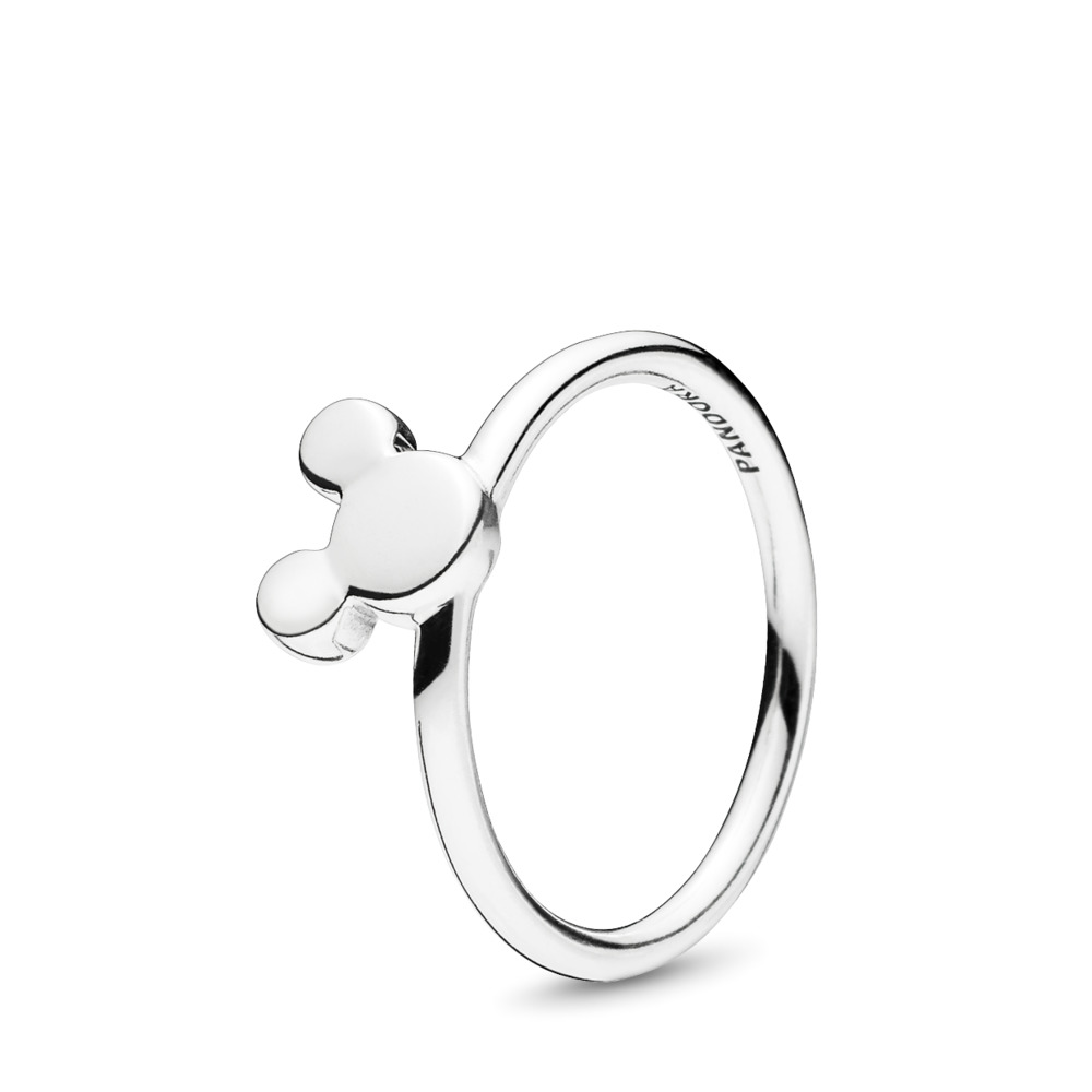 Disney, Mickey Silhouette Ring, Sterling silver - PANDORA - #197508
