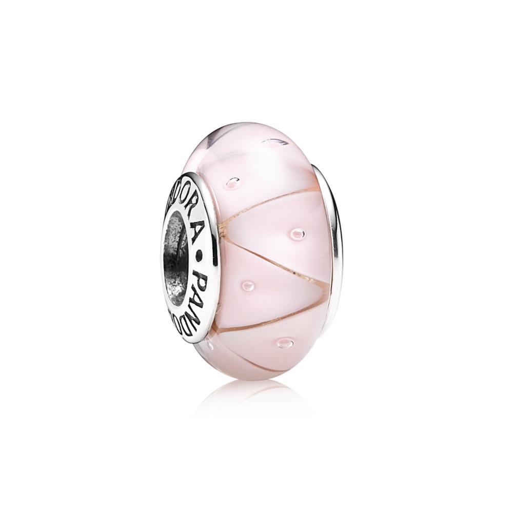 Miroir rose, Argent sterling, Verre, Rose, Aucune pierre - PANDORA - #790922
