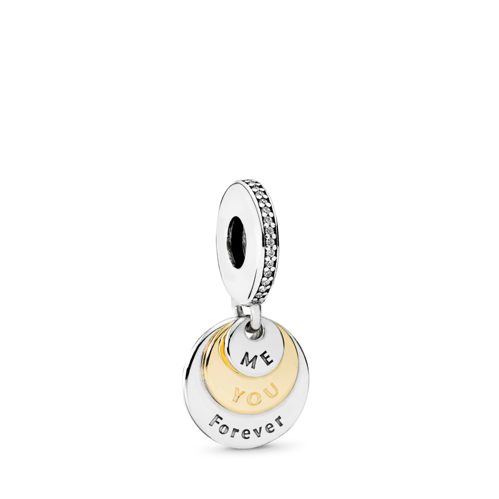 You & Me Forever, Clear CZ, Two Tone, Cubic Zirconia - PANDORA - #791979CZ