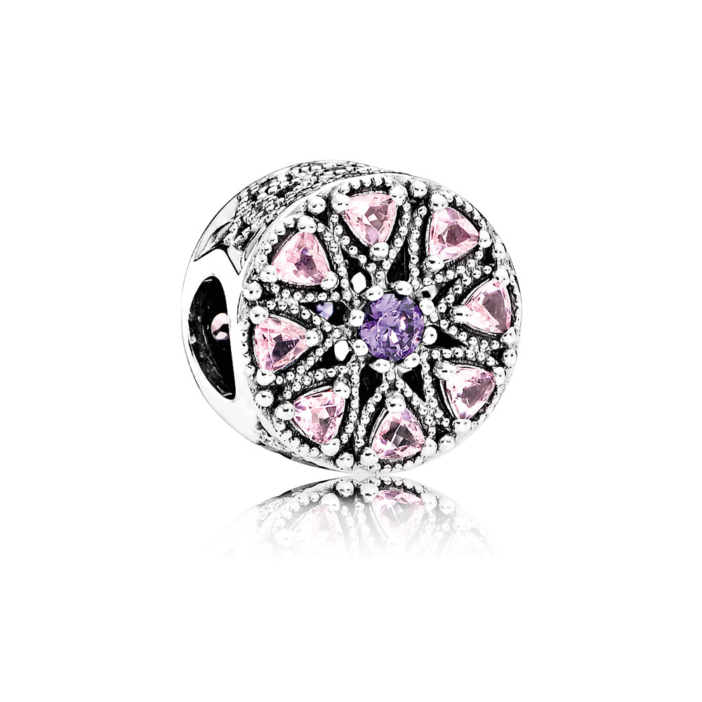 Shimmering Medallion, Multi-Colored CZ