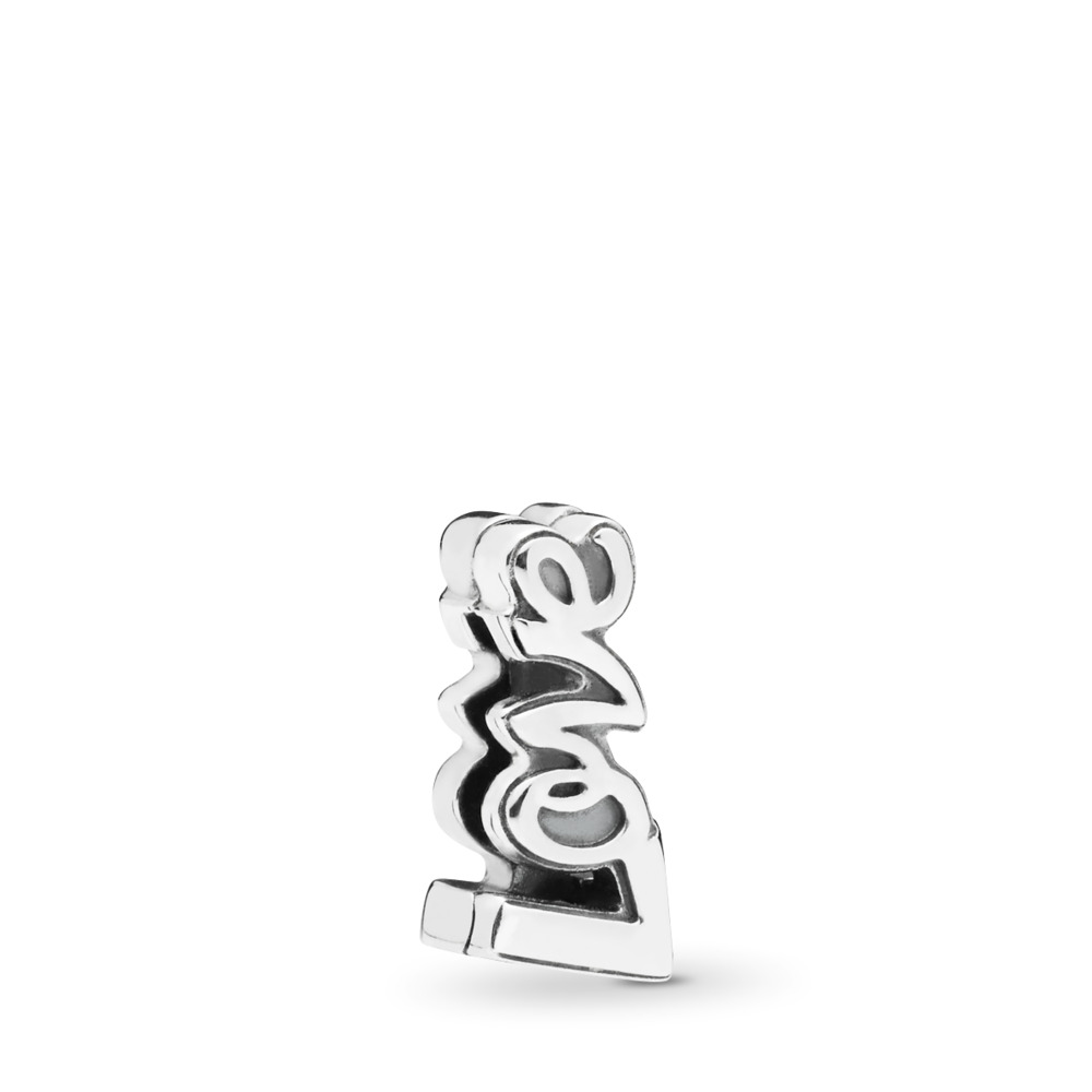 PANDORA Reflexions™ Love Charm, Sterling silver, Silicone - PANDORA - #797579
