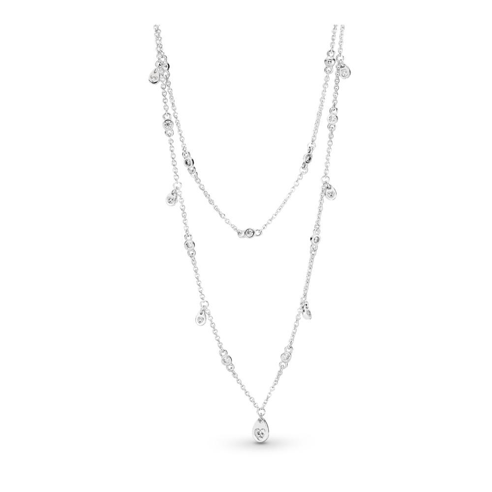 ca9846d66 Chandelier Droplets Necklace, Sterling silver, Cubic Zirconia - PANDORA -  #397084CZ