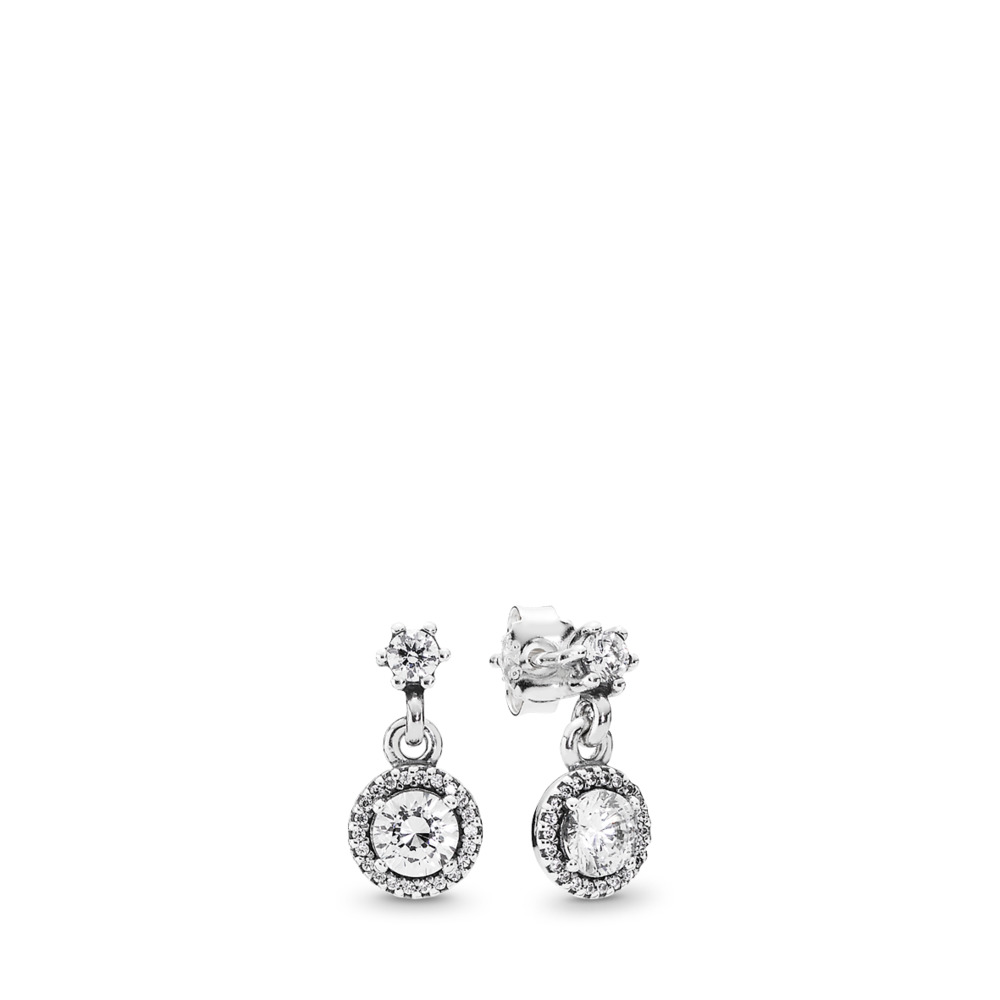 Classic Elegance, Clear CZ, Sterling silver, Cubic Zirconia - PANDORA - #290594CZ