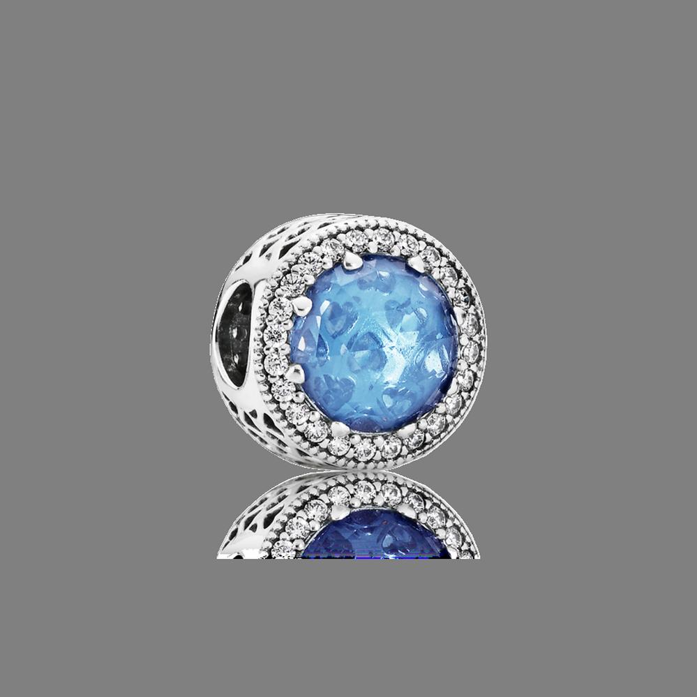 Radiant Hearts, Sky-Blue Crystal & Clear CZ