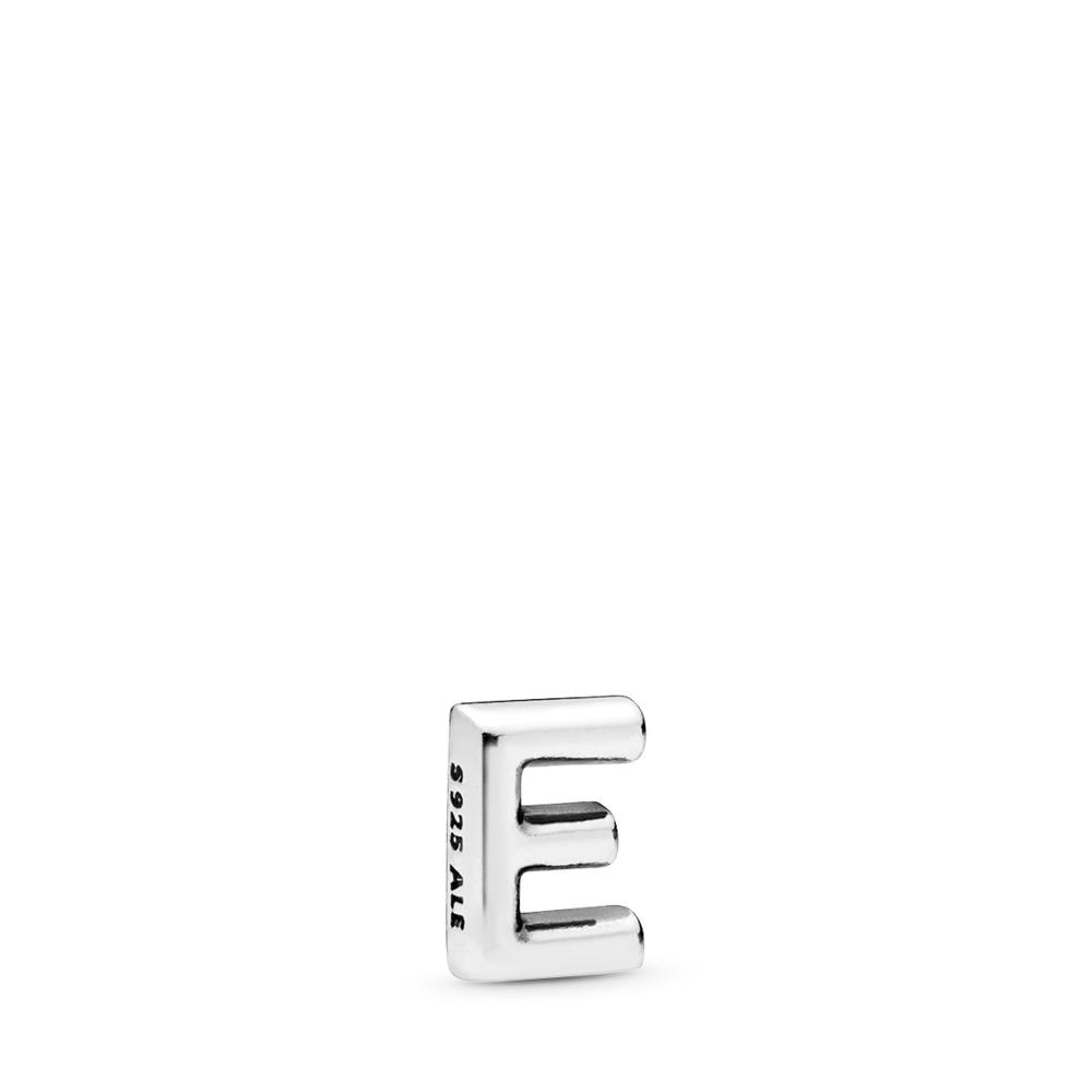Mini Lettre E, Argent sterling, Aucun autre matériel, Aucune couleur, Aucune pierre - PANDORA - #797322