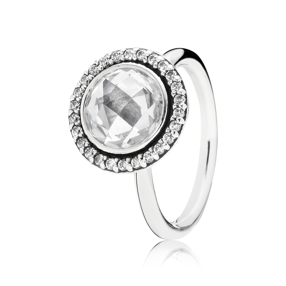 Brilliant Legacy Ring, Clear CZ, Sterling silver, Cubic Zirconia - PANDORA - #190904CZ