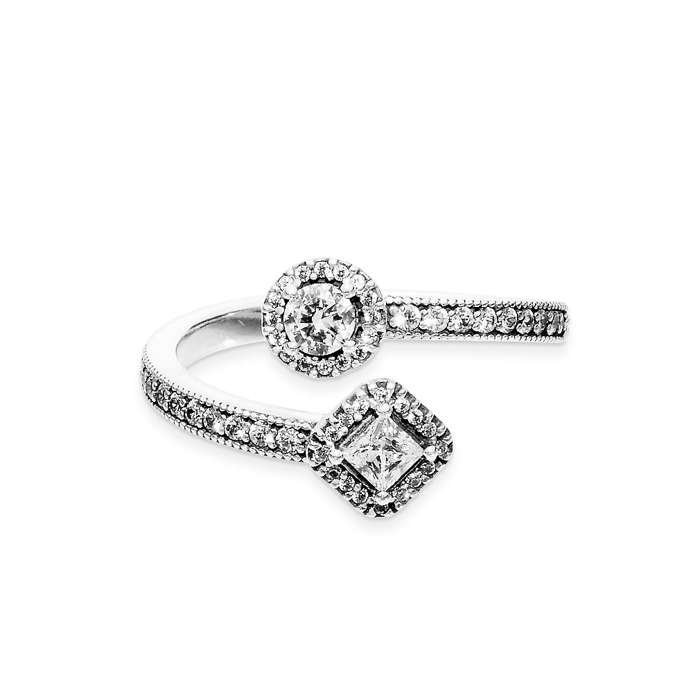 b79629889 Abstract Elegance Ring with Cubic Zirconia
