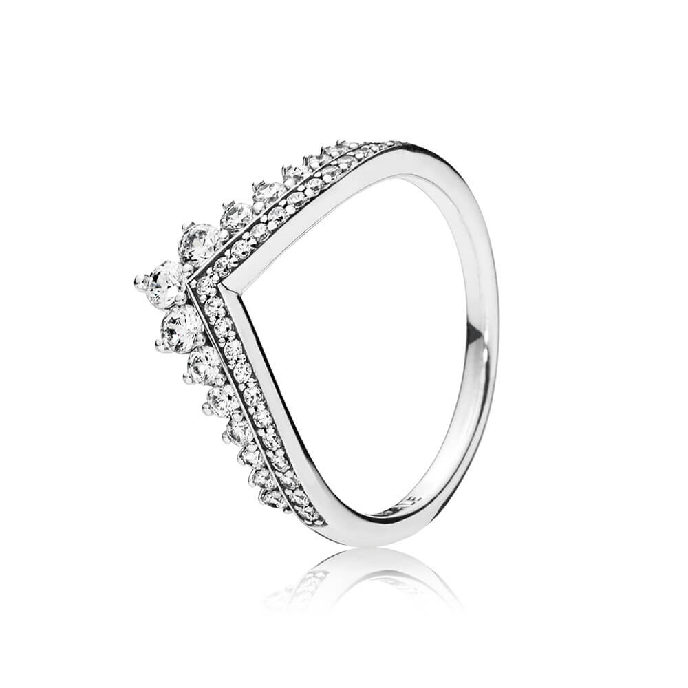 Princess Wish Ring, Clear CZ