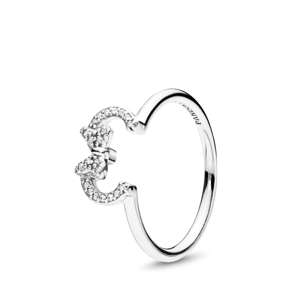 Disney, Minnie Silhouette Ring, Sterling silver, Cubic Zirconia - PANDORA - #197509CZ