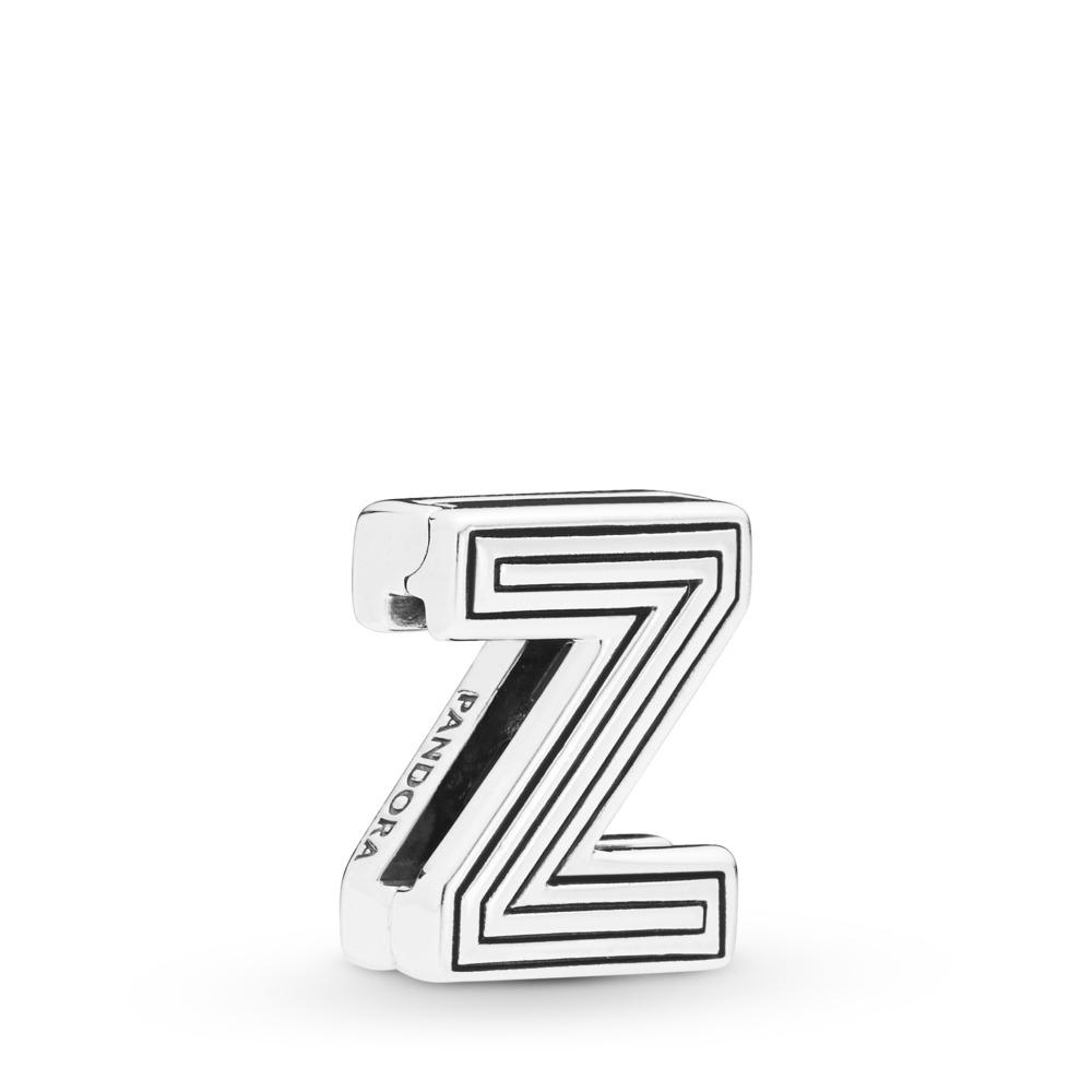 Charm Lettre Z Pandora Reflexions, Argent sterling, Silicone, Aucune couleur, Aucune pierre - PANDORA - #798222