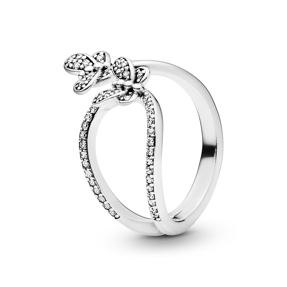 Bedazzling Butterflies Ring, Sterling silver, Cubic Zirconia - PANDORA - #197920CZ