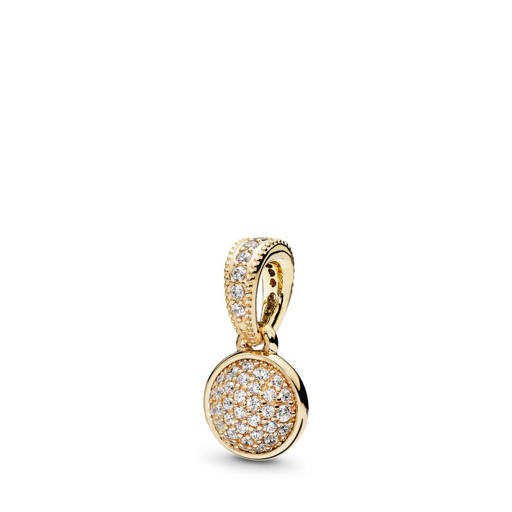 Dazzling Droplet, 14K Gold & Clear CZ, Yellow Gold 14 k, Cubic Zirconia - PANDORA - #356213CZ