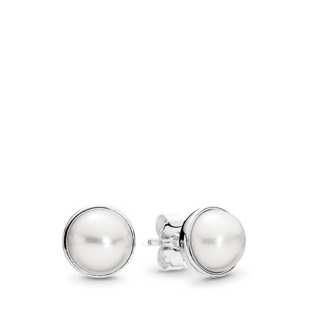 Beauté élégante, perle blanche, Argent sterling, Aucun autre matériel, Blanc, Perle de culture d'eau douce - PANDORA - #290727P