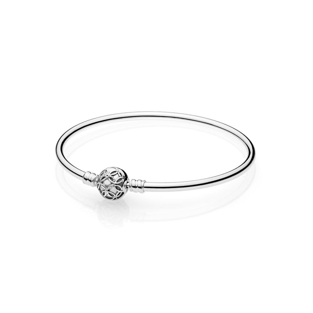 Bracelet rigide Motif d'amour offert en édition limitée, Argent sterling, Aucun autre matériel, Aucune couleur, Aucune pierre - PANDORA - #597137